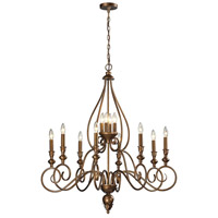 ELK Lighting Hamilton 12 Light Chandelier in Mocha 31393/8+4