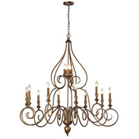 ELK Lighting Hamilton 15 Light Chandelier in Mocha 31394/10+5