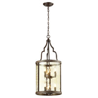ELK Lighting Mooreland 6 Light Pendant in Weathered Bronze 31407/3+3
