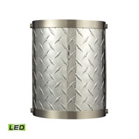 Diamond Plate LED 8 inch Brushed Nickel Wall Sconce Wall Light
