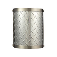 Diamond Plate 1 Light 8 inch Brushed Nickel Wall Sconce Wall Light in Standard