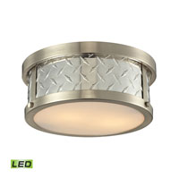 Diamond Plate LED 12 inch Brushed Nickel Flush Mount Ceiling Light