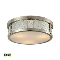 Diamond Plate LED 16 inch Brushed Nickel Flush Mount Ceiling Light
