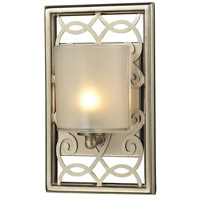 ELK Lighting Santa Monica 1 Light Bath Bar in Aged Silver 31426/1