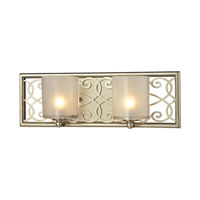 ELK Lighting Santa Monica 2 Light Bath Bar in Aged Silver 31427/2