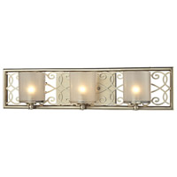 ELK Lighting Santa Monica 3 Light Bath Bar in Aged Silver 31428/3