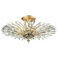 ELK Lighting Viva 3 Light Semi-Flush Mount in Aged Silver 31431/3