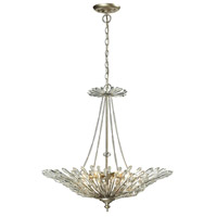 Viva Natura 6 Light 26 inch Aged Silver Pendant Ceiling Light