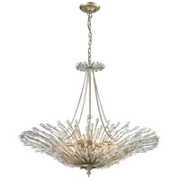 Viva 8 Light 37 inch Aged Silver Pendant Ceiling Light