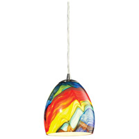 ELK Lighting Colorwave 1 Light Pendant in Satin Nickel 31445/1RB