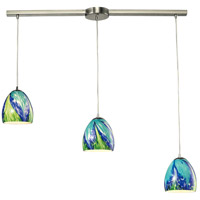 ELK Lighting Colorwave 3 Light Chandelier in Satin Nickel 31445/3L-TB