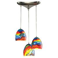 ELK Lighting Colorwave 3 Light Chandelier in Satin Nickel 31445/3RB