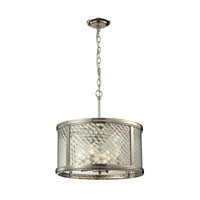 ELK Lighting Chandler 4 Light Pendant in Polished Nickel 31462/4