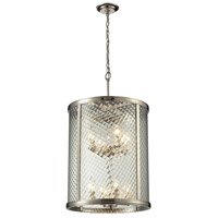 ELK Lighting Chandler 8 Light Pendant in Polished Nickel 31463/8