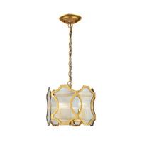 ELK Lighting HGTV HOME Benicia 3 Light Pendant in Antique Gold Leaf 31466/3