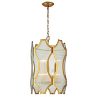 Benicia 6 Light 16 inch Antique Gold Leaf Pendant Ceiling Light
