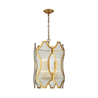 ELK 31467/3+3 Benicia 6 Light 16 inch Antique Gold Leaf Pendant Ceiling Light