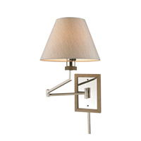 Madera 12 inch 100 watt Polished Nickel Swingarm Wall Light