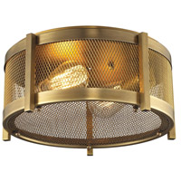 Rialto 2 Light 13 inch Aged Brass Flush Mount Ceiling Light