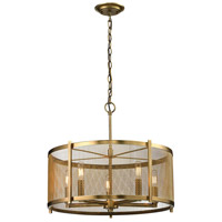 Rialto 5 Light 22 inch Aged Brass Pendant Ceiling Light