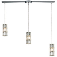 ELK 31486/3L Cynthia 3 Light 36 inch Polished Chrome Linear Pendant Ceiling Light in Linear with Recessed Adapter