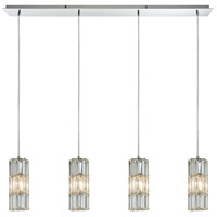 ELK 31486/4LP Cynthia 4 Light 47 inch Polished Chrome Linear Pendant Ceiling Light