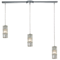 ELK 31487/3L Cynthia 3 Light 36 inch Polished Chrome Linear Pendant Ceiling Light in Linear with Recessed Adapter
