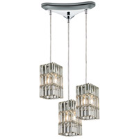Cynthia 3 Light 10 inch Polished Chrome Mini Pendant Ceiling Light in Triangular Canopy, Triangular