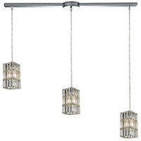 ELK 31488/3L Cynthia 3 Light 36 inch Polished Chrome Linear Pendant Ceiling Light in Linear with Recessed Adapter