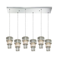 Cynthia 6 Light 30 inch Polished Chrome Chandelier Ceiling Light