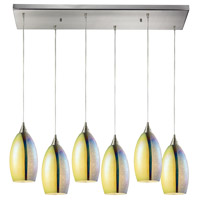 Horizon 6 Light 30 inch Satin Nickel Pendant Ceiling Light