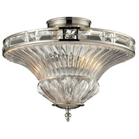 Aubree 2 Light 15 inch Polished Nickel Semi-Flush Mount Ceiling Light