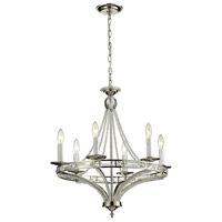 ELK 31501/6 Aubree 6 Light 23 inch Polished Nickel Chandelier Ceiling Light