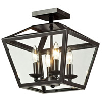 Alanna 4 Light 12 inch Oil Rubbed Bronze Semi Flush Mount Ceiling Light
