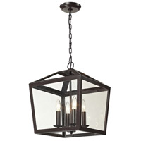 Alanna 4 Light 14 inch Oil Rubbed Bronze Pendant Ceiling Light