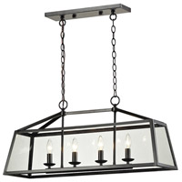 Alanna 4 Light 32 inch Oil Rubbed Bronze Linear Pendant Ceiling Light