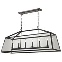ELK 31509/6 Alanna 6 Light 54 inch Oil Rubbed Bronze Linear Pendant Ceiling Light