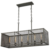 ELK Lighting Perry 6 Light Island in Malted Rust with Wire Mesh Shade 31511/6
