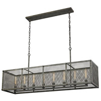 ELK Lighting Perry 8 Light Island in Malted Rust with Wire Mesh Shade 31512/8