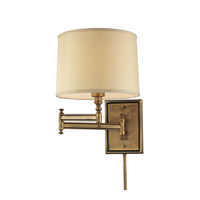 Signature 12 inch 100 watt Brushed Antique Brass Swingarm Wall Light