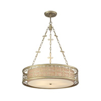 Santa Monica 5 Light 24 inch Aged Silver Pendant Ceiling Light