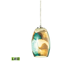 Surreal LED 5 inch Satin Nickel Pendant Ceiling Light
