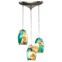 Surreal LED 10 inch Satin Nickel Pendant Ceiling Light