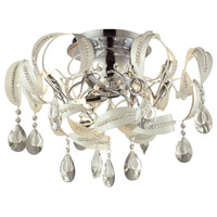 Zebula 12 Light 22 inch White Semi Flush Ceiling Light