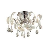 Zebula 8 Light 22 inch White Semi Flush Ceiling Light