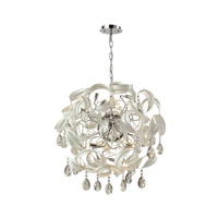 ELK 31546/18 Zebula 18 Light 28 inch White Chandelier Ceiling Light