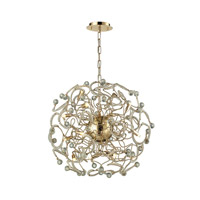 Zebula 12 Light 24 inch Polished Gold Chandelier Ceiling Light