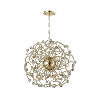 Zebula 16 Light 24 inch Polished Gold Chandelier Ceiling Light