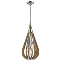 Janette 3 Light 14 inch Polished Nickel Pendant Ceiling Light