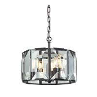 Garrett 4 Light 14 inch Oil Rubbed Bronze Pendant Ceiling Light